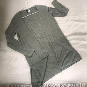 nwot • h&m long cardigan sweater xs